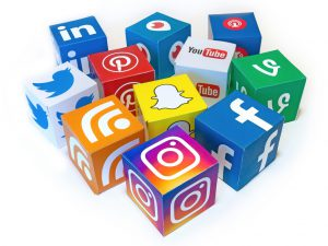 Mix of social media icons