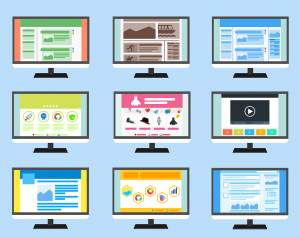 Clip art of various websites