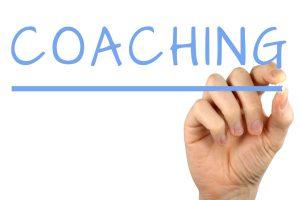 Coaching written on glass