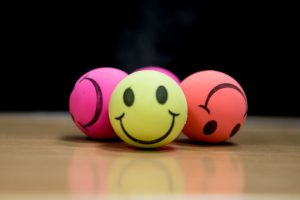Happy face balls