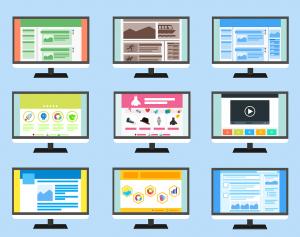 Clip art of various websites
