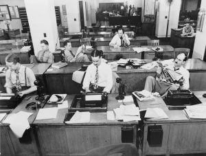 Photo of New York Times newspaper office